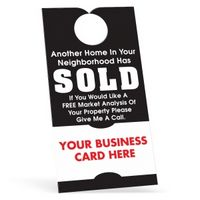 102861635-183 - Door Hanger w/ Business Card - 10 Pt Card Stock/ 30% Recycled Material - thumbnail