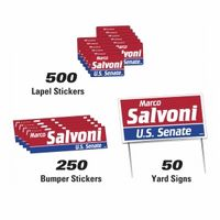 172535915-183 - Political Campaign Kit (50 Signs/ 250 Bumper Stickers/ 500 Lapel Stickers) - thumbnail