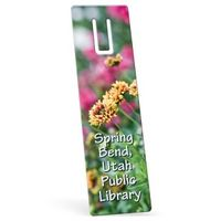 "342861514-183 - Recycled Rectangle Vinyl Plastic Bookmark w/ Slot (0.015"" Thick) - thumbnail"
