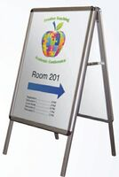 384033951-183 - Aluminum A-Frame Portable Interior Signage Stand - thumbnail