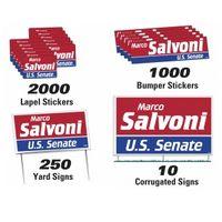 502535926-183 - Political Campaign Kit (250 Yard/ 10 Corrugated/ 1000 Bumper/ 2000 Lapel) - thumbnail