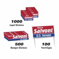 702535929-183 - Political Campaign Kit (100 Signs/ 500 Bumper Stickers/1000 Lapel Stickers) - thumbnail