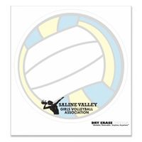 "714035046-183 - Volleyball Stock Art Full Color Dry Erase Decals (8"" Diameter) - thumbnail"