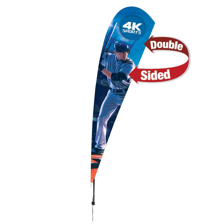 105009633-108 - 15' Streamline Tear Drop Sail Sign Kit Double-Sided w/Spike Base - thumbnail