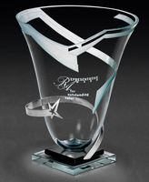 "79837834-182 - Orbiting Star Vase Award (9""x15""x9"") - thumbnail"
