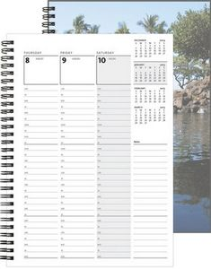 """163318931-197 - WeeklyOrganizer™ w/ClearView Front & Chip Back (7""""x10"""") - thumbnail"""
