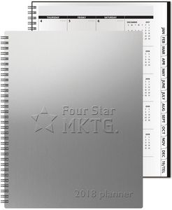 """783319064-197 - TheAnalyst™ Alloy Front Monthly Planner w/Chip Back (8.5""""x11"""") - thumbnail"""