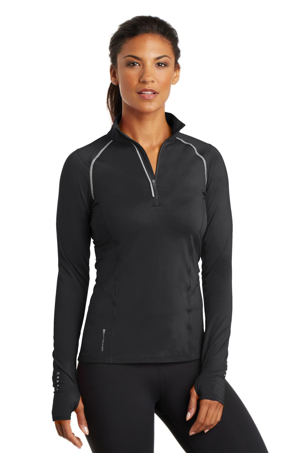 364691272-120 - OGIO® Endurance Nexus Ladies' 1/4 Zip Pullover Shirt - thumbnail