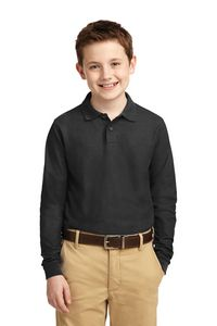 702485439-120 - Port Authority® Youth Silk Touch™ Long Sleeve Polo Shirt - thumbnail