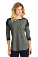 955491225-120 - New Era® Ladies' Heritage Blend 3/4 Sleeve Baseball Raglan Tee Shirt - thumbnail