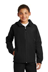 982914558-120 - Sport-Tek® Youth Hooded Raglan Jacket - thumbnail