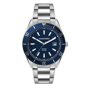 "186501820-184 - Wc8246 42mm Steel Silver Case, 3 Hand ""Automatic"" Mvmt, Blue Dial, Dte Display, Bl Rotating Bezel, S - thumbnail"