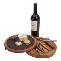 355177991-184 - Normandy Swivel Base Cheese/Wine Set  - thumbnail