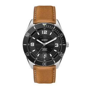 """356501813-184 - Wc8232 42mm Steel Silver Case, 3 Hand """"Automatic"""" Mvmt, Black Dial, Dte Display, Bk Rotating Bezel,  - thumbnail"""