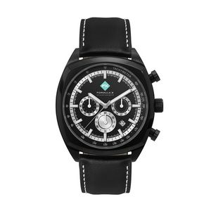 386501828-184 - Wc8396 42mm Steel Black Case, Chronograph Mvmt, Black Dial, Dte Display, Leather Strap, Flat Mineral - thumbnail