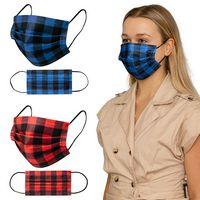 506419494-184 - Shield IV Box of 50pcs Plaid Disposable Face Masks - thumbnail