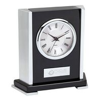 513874471-184 - Elegant Chrome & Black Desk Clock - thumbnail