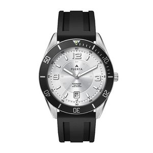 "556501811-184 - Wc8230 42mm Steel Silver Case, 3 Hand ""Automatic"" Mvmt, Silver Dial, Dte Display, Bk Rotating Bezel, - thumbnail"
