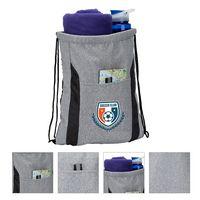 786102453-184 - Joann Drawstring Bag w/ Knitted Fabric - thumbnail
