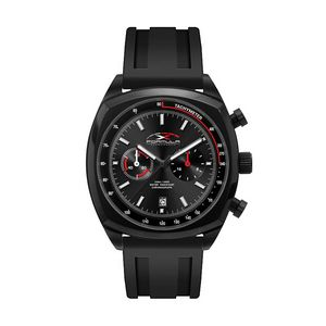 786501829-184 - Wc8398 42mm Steel Black Case, Chronograph Mvmt, Black Dial, Dte Display, Silicone Strap, Flat Minera - thumbnail
