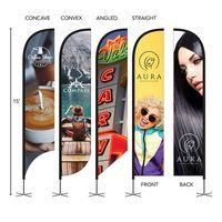 796252611-184 - DisplaySplash 15' Double-Sided Custom Feather Flag - thumbnail
