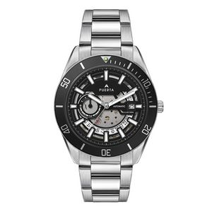 """956501817-184 - Wc8240 42mm Steel Silver Case, 3 Hand """"Automatic"""" Mvmt, See Through Dial, Dte Display, Bk Rotating B - thumbnail"""