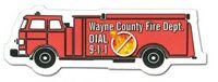 132255968-819 - Fire Truck Stock Shape Magnet (Full Color Digital) - thumbnail
