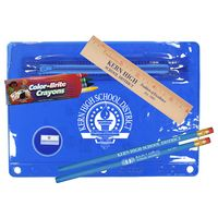 "142135341-819 - Premium Translucent School Kit w/ 2 Pencils, 6"" Ruler, Crayon & Sharpener - thumbnail"
