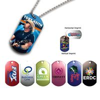 "172868051-819 - Metal Dog Tag w/ 23 1/2"" Chain (Full Color Digital) - thumbnail"