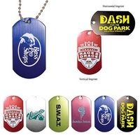 "312558565-819 - Metal Dog Tag w/ 4 1/2"" Chain (Spot Color) - thumbnail"