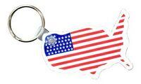 353723770-819 - USA Soft Key Fob w/ Flag Imprint (Spot Color) - thumbnail