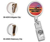 522868007-819 - Round Retractable Badge Holder w/ Alligator Clip (Full Color Digital) - thumbnail