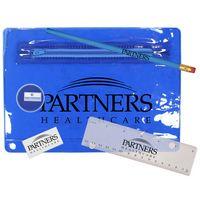 932135378-819 - Premium Translucent School Kit w/ Pencil, Ruler, Eraser & Sharpener - thumbnail