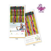 965923321-819 - Create-A-Pack Pencil Set of 12 - Mood Pencil W/ Colored Eraser - thumbnail