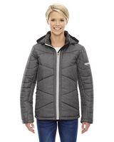 344612225-132 - North End Sport® Blue Ladies' Avant Tech Melange Insulated Jacket w/ Heat Reflect Technology - thumbnail