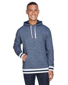395810071-132 - J AMERICA Adult Peppered Fleece Lapover Hood - thumbnail