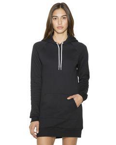785810200-132 - American Apparel Ladies' Flex Fleece Hooded Dress - thumbnail