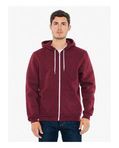 925810184-132 - American Apparel Unisex Salt And Pepper Hooded Zip Sweatshirt - thumbnail