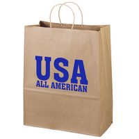 175910622-185 - Eco Citation Kraft-Brown Shopper Bag (Brilliance- Matte Finish) - thumbnail