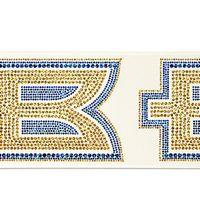 """366349220-185 - 4"""" Badge Satin Ribbon (Sparkle) - thumbnail"""