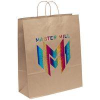 716487287-185 - Eco Stephanie Kraft-Brown Shopper Bag (Brilliance- Special Finish) - thumbnail