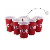 104241695-202 - Party Pong Kit - 6 - 16 oz Single Wall cups and 2 ping pong balls - thumbnail