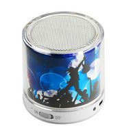 324599420-202 - Bongo Beats Portable Round Bluetooth Speaker full color - thumbnail
