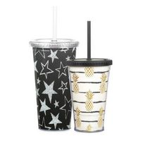 505377622-202 - 16 oz Double Wall Slurpy with Film over Glitter - thumbnail