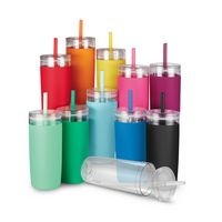 535920147-202 - 32 oz Bermuda Tumbler with Silicone Sleeve, Silicone Straw and Cleaning Brush - thumbnail