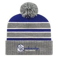 906048541-812 - Double Stripe Knit Cap w/Ribbed Cuff - thumbnail