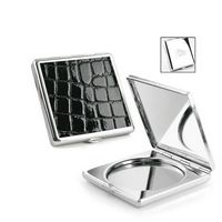 322568430-114 - 2X Magnifying Croco Insert Mirror Compact - thumbnail