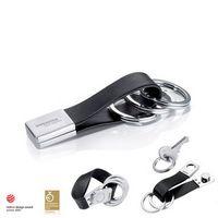 343733907-114 - Troika® Twister Black Valet Key Ring - thumbnail