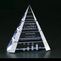 912928621-114 - Clearaward Blue Tint Pyramid Award - thumbnail