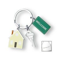92941210-114 - Home Sweet Home Charm Key Ring - thumbnail